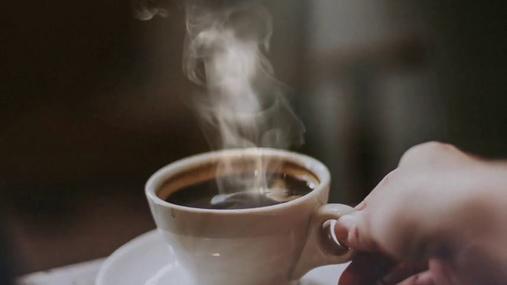 Steamy coffee