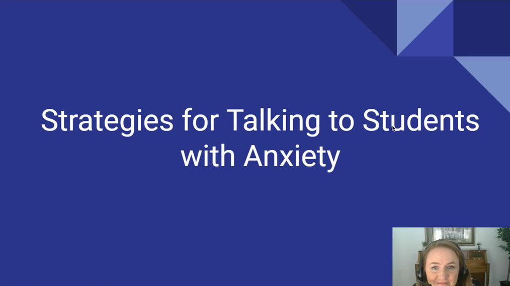 Talking to Anxious Students