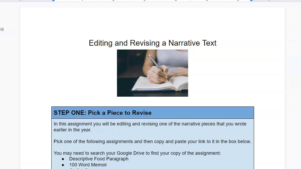 Example Editing and Revising a Narrative Piece.mp4