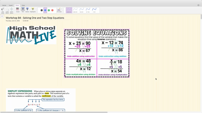 Brush Up Workshop B4 - Solving One and Two Step Equations.mp4