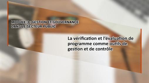 Vérification et évaluation