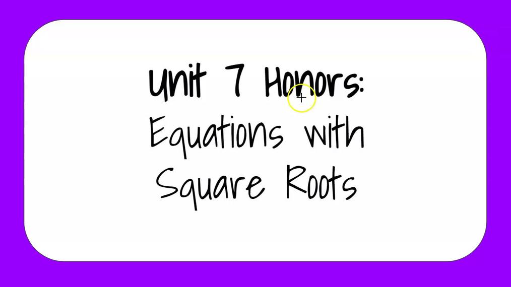 Unit 7 Honors 1.mp4