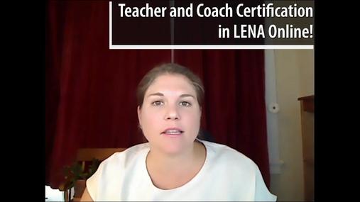 Certification in LENA Online